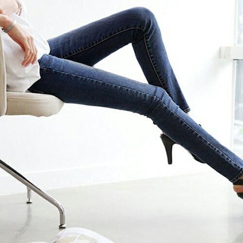 褲子 - 修身刷白窄管牛仔長褲【23309】藍色巴黎 - 現貨+預購 2