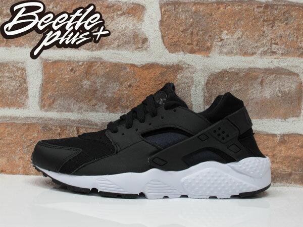 女鞋 BEETLE NIKE HUARACHE RUN GS 黑白 黑武士 復古 運動鞋 慢跑鞋 654275-011 0