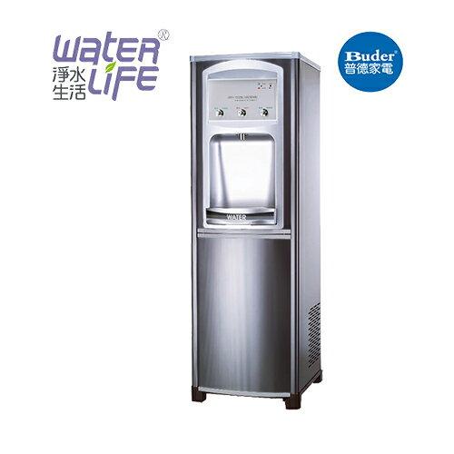 【淨水生活】《普德Buder》《公司貨》CJ-889 按鈕型 冰溫熱三溫 落地式飲水機 ★贈不鏽鋼保溫瓶 ★免費安裝