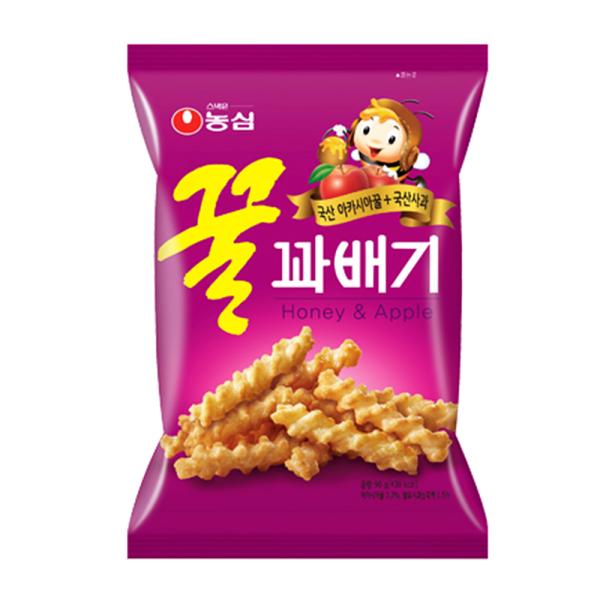 韓國進口 NONGSHIM 農心-蜂蜜蘋果蜜麻花90g
