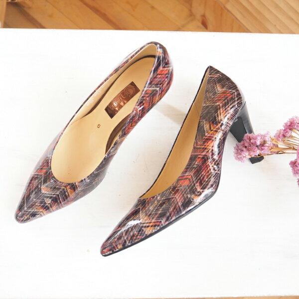 Gabor 菱紋未來感時尚低跟鞋 4