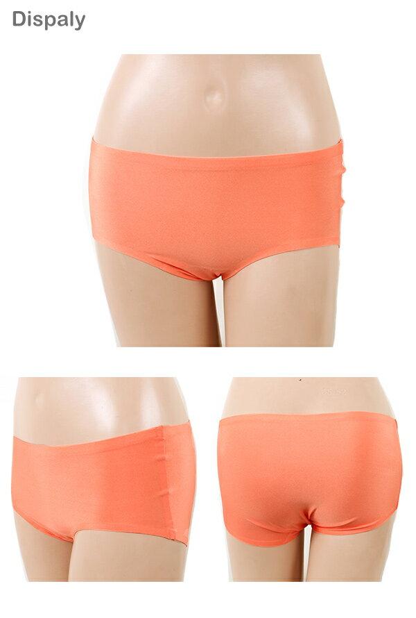 【依夢】親膚 零著感無痕三角褲(粉橙) 1