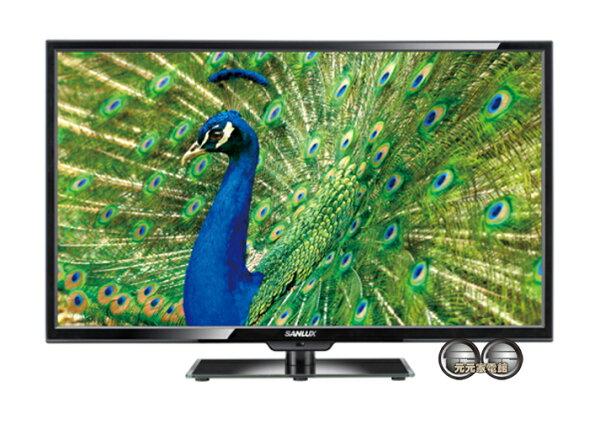 【SANLUX 台灣三洋】 24吋LED背光液晶電視+視訊盒 SMT-24MV7~配送不安裝