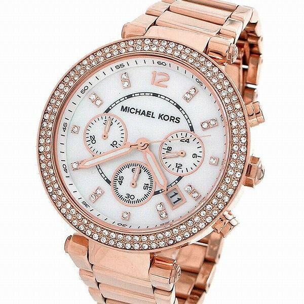 【限時8折 全店滿5000再9折】MichaelKors MK 玫瑰金鑲鑽 三環計時手錶腕錶 MK5491 美國Outlet 正品代購 3