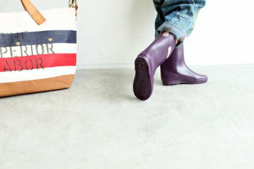 【本月贈鞋墊】日本【Stample】兒童雨鞋(藍莓紫) 1