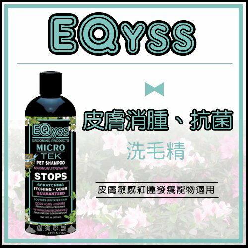 +貓狗樂園+ EQyss【Micro-Tek。皮膚消腫。抗菌洗毛精。473ml】800元 - 限時優惠好康折扣