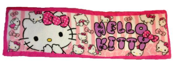【真愛日本】16022500003長地墊45*150CM-條紋粉  KITTY 凱蒂貓 三麗鷗 地墊 腳踏墊 生活用品