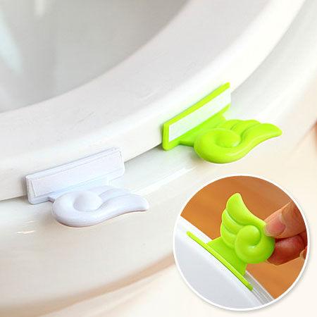 居家創意 天使翅膀馬桶提蓋器 馬桶坐墊蓋把手 掀蓋輔助 乾淨衛生【N200549】