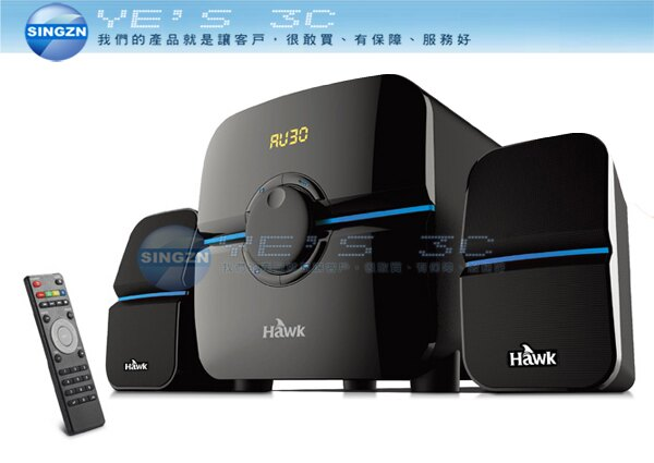 「YEs 3C」全新 Hawk 浩客 S866 多媒體喇叭 藍芽 LED操作螢幕 3.5mm 免運