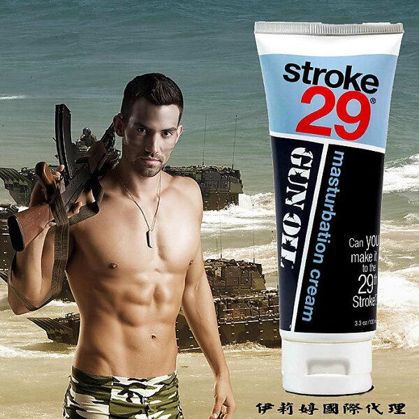 ◤木子李情趣◥   美國 Empowered Products Gun Oil Stroke 29 男用按摩潤滑凝膠 3.3oz 100ml 【跳蛋 名器 自慰器 按摩棒 情趣用品 】