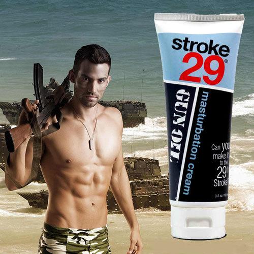 ◤潤滑液情趣潤滑液高潮潤滑液◥ 美國Empowered Products*Gun Oil Stroke 29 男用按摩潤滑凝膠 3.3oz(100ml) 【跳蛋 名器 自慰器 按摩棒 情趣用品 】