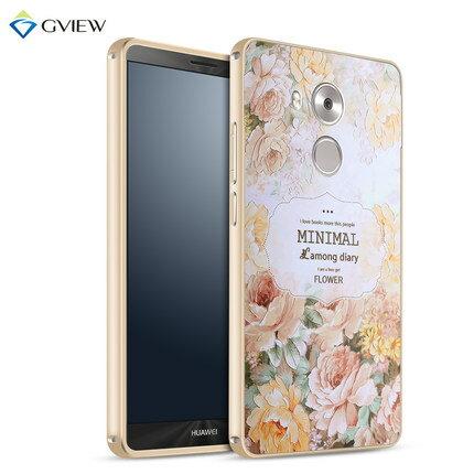 華為 Mate 8 金屬殼 彩繪立體浮雕+金屬邊框 背蓋 Huawei Mate 8 保護套 外殼【預購】