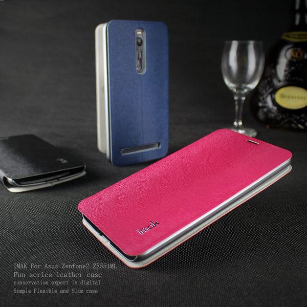 華碩Zenfone2 ZE550ML 5.5吋 保護套 艾美克IMAK樂系列松鼠紋皮套 手機套 保護殼