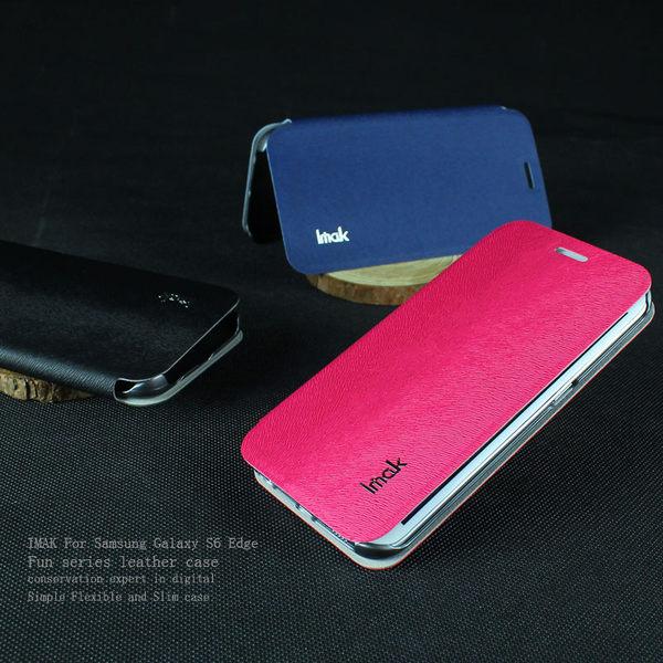 三星 Galaxy S6 Edge G9250 保護套 艾美克IMAK樂系列松鼠紋皮套 手機套 保護殼