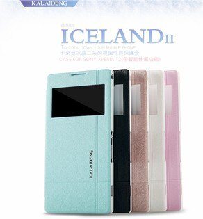 索尼XPERIA T2 XM50h 保護套 卡來登冰晶二系列視窗手機皮套 XM50h 時尚防水保護殼【預購】