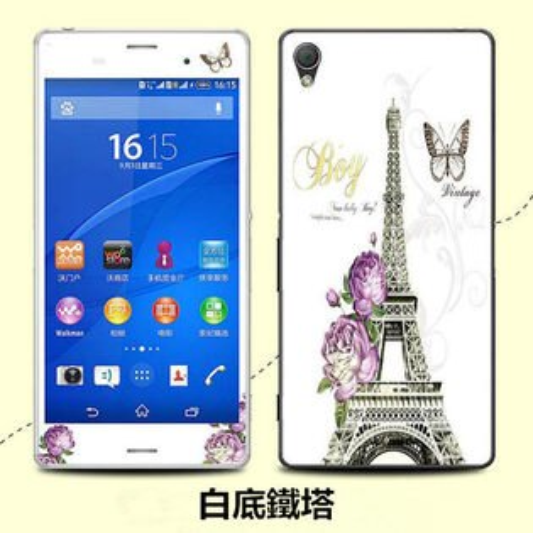 SONY Xperia Z3 手機貼 XLT010卡通貼膜 彩膜全身貼高透明螢幕貼  索尼 L55T L55U 高清貼膜【預購】