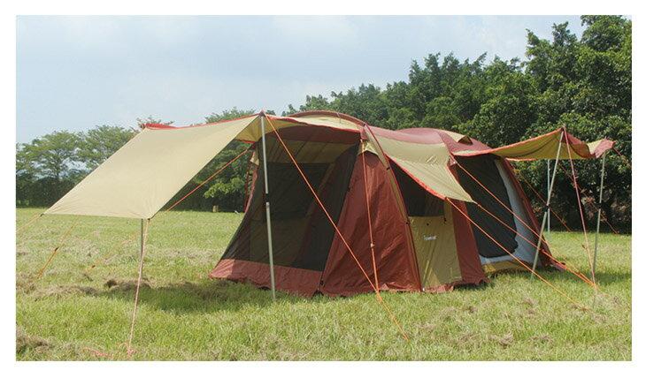 野樂露營達人鋁合金帳蓬,四門可全開每面都有屋簷可展開通風遮陽效果最佳 ARC-643   野樂 Camping Ace 0