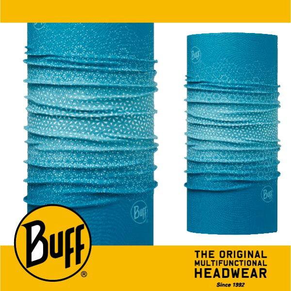 BUFF 西班牙魔術頭巾 SLIM頭巾 [綠松雪花] BF113071-789-10