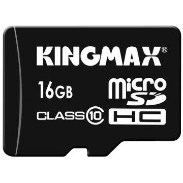 KINGMAX 16GB MicroSDHC Class10高速記憶卡(附轉卡)【葳豐數位商城】