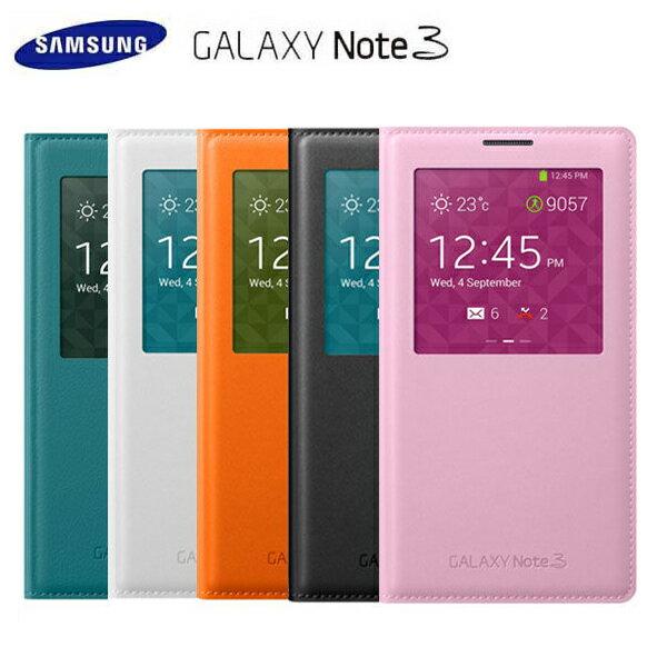 SAMSUNG NOTE3 N9000 N9005 原廠皮套 S View 透視感應皮套【葳豐數位商城】