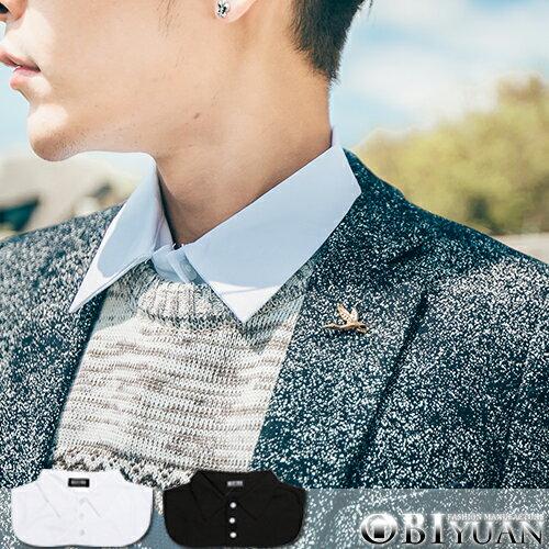 假領口襯衫【ZT5278】OBI YUAN三排扣襯衫式內搭假兩件上衣 共2色