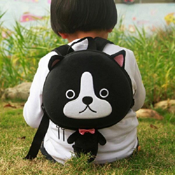 香港【Supercute】動物造型後背包 - 黑小狗 0