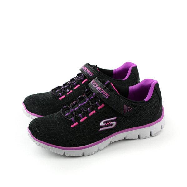 SKECHERS 運動鞋 黑色紫色 童 no426