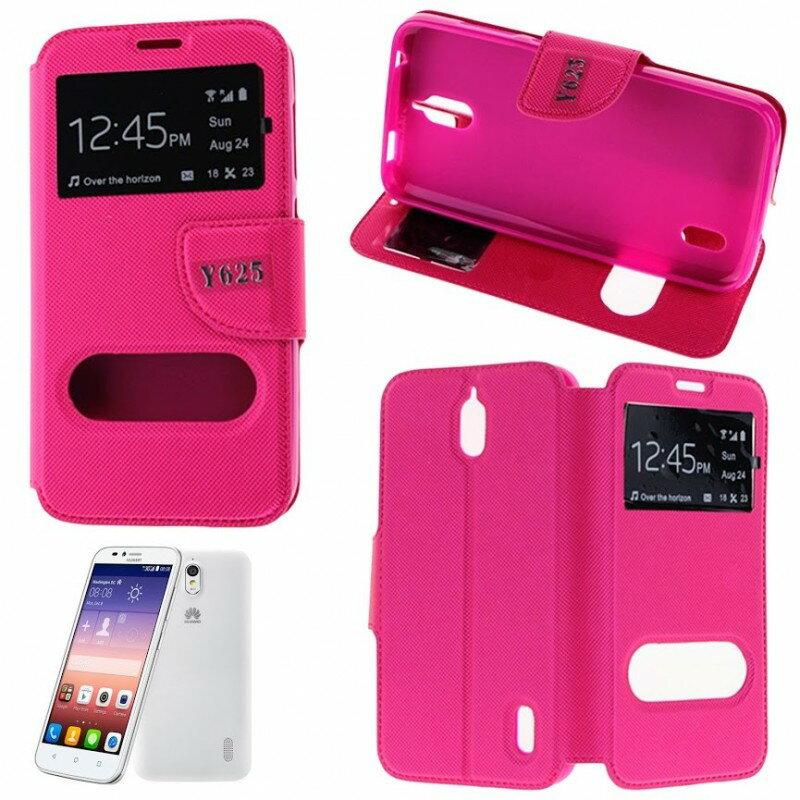 Funda Tipo LIBRO DOBLE VENTANA Stand Huawei Y625 (Color Opcional) 5