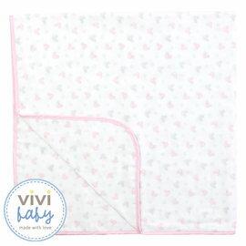 ViViBaby - Disney迪士尼超柔四方紗布浴巾 (粉) 0