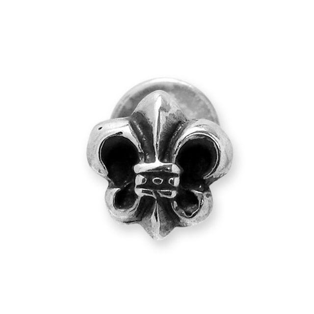 【海外訂購】【Chrome Hearts】半立體鳶尾花純銀耳環(CHE-021  0001850000) 2