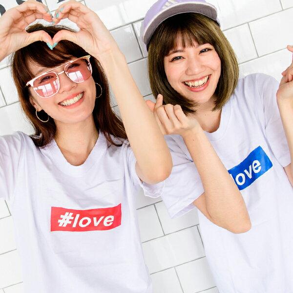 ◆快速出貨◆T恤.情侶裝.班服.MIT台灣製.獨家配對情侶裝.客製化.純棉短T.#love【Y0206】可單買.艾咪E舖 4