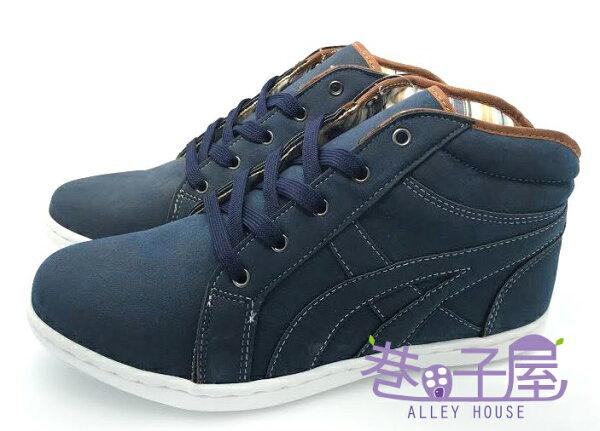 【巷子屋】MODERN CAMEL 男款紳士潮流高統運動休閒鞋 [5605] 藍 MIT台灣製造 超值價$398