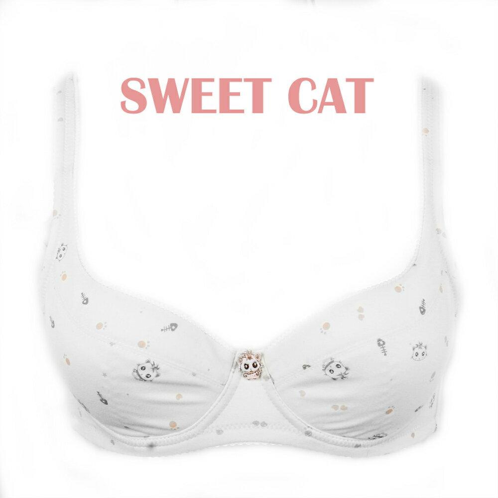 【夢蒂兒】俏皮貓咪。軟鋼圈舒壓BCD罩杯內衣(香檳) 2