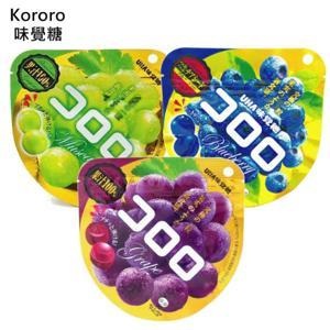 有樂町進口食品 日本 UHA KORORO白葡萄味果汁糖(40g)濃郁白葡萄香味 ★讓人吃過就念念不忘 4902750627222 2