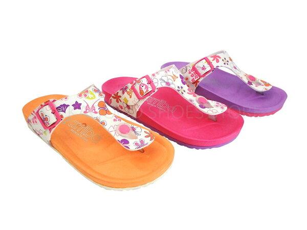 Arriba 61-384 休閒拖 拖鞋 橘色 / 桃色 / 紫色 女款