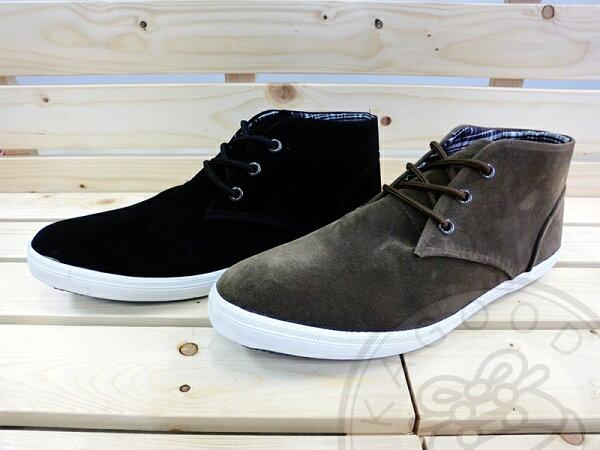 Arriba AB-7053 素面 格紋 休閒鞋 咖/黑色款 男鞋