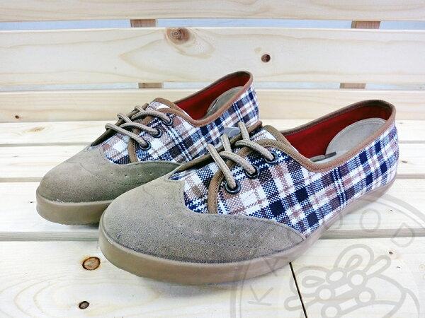 Arriba  AB-7054 格紋 便鞋 休閒鞋 咖啡色 女款