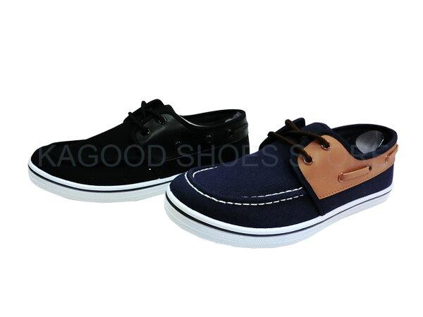 Arriba AB-7061 休閒鞋 懶人鞋 便鞋 帆布鞋  藍色款/黑色款