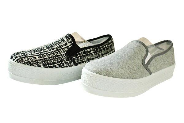 Arriba AB-7087 休閒鞋 懶人鞋 便鞋  灰色款/黑白色款 女鞋