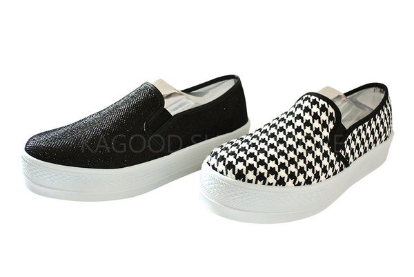 Arriba AB-7088 休閒鞋 懶人鞋 便鞋 黑色款/千鳥格色款 女鞋