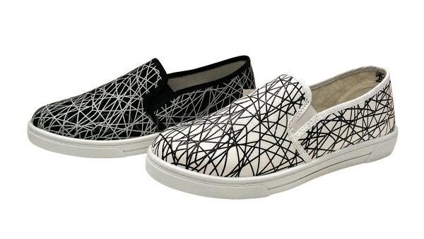 Arriba AB-7079 休閒鞋 懶人鞋 便鞋 白色款 / 黑色款 女鞋
