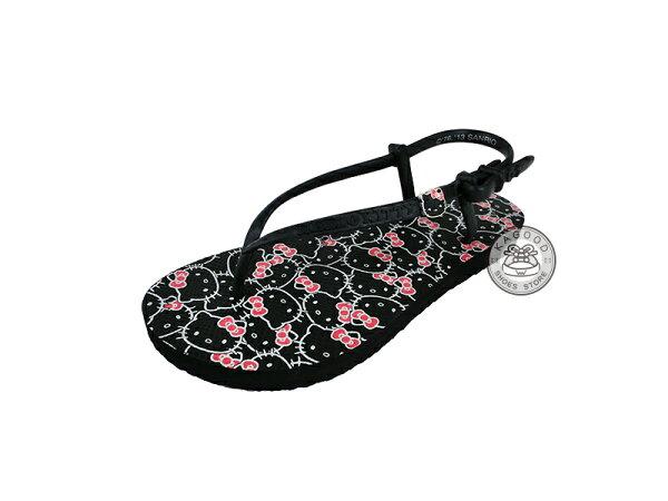 HELLO KITTY 凱蒂貓 910794 涼鞋 檸檬精油無毒香味 黑色款