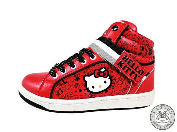 HELLO KITTY 凱蒂貓 913023 塗鴉風 休閒鞋 板鞋 運動鞋 紅色款