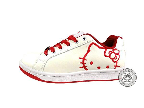 HELLO KITTY 凱蒂貓 914056 格紋風 休閒鞋 板鞋 白紅色款
