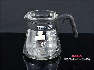快樂屋♪ 日本製 HARIO V60 coffee serve 700 VCS-02B 700cc 玻璃咖啡壺.下壺
