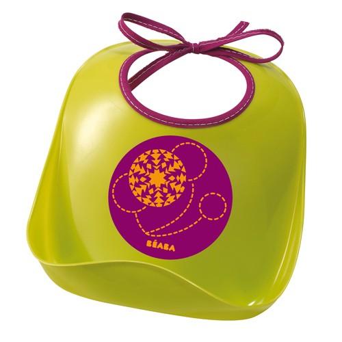 【淘氣寶寶】法國 BEABA 防水兒童圍兜/軟膠防碎屑圍兜(綠)【保證公司貨●品質有保證●非仿品】