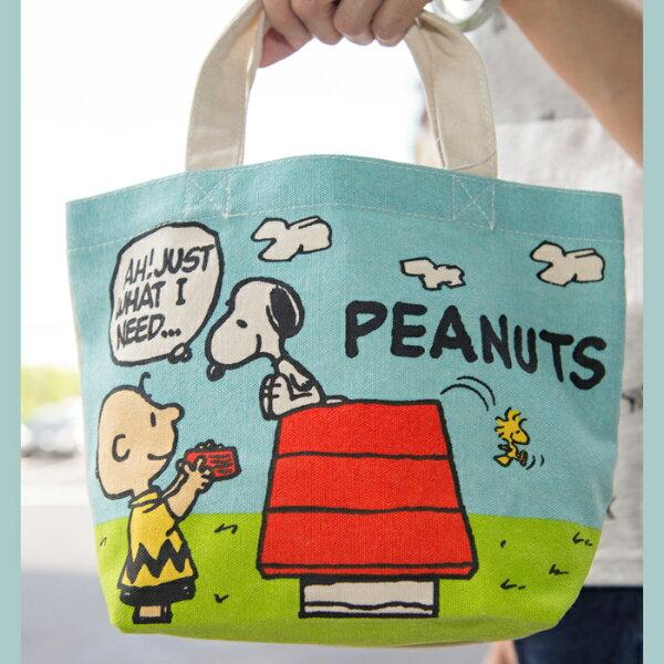 SNOOPY 史努比 帆布手提袋 餐袋 日本限定正版品