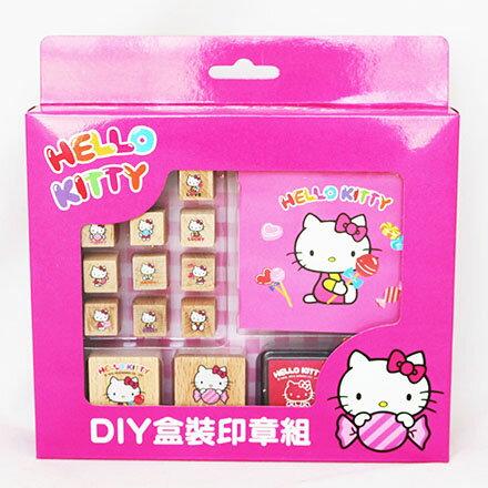 【敵富朗超巿】KITTY二代DIY盒裝印章組 2