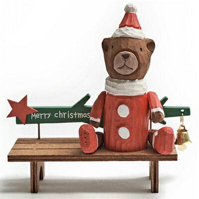 歡樂的聖誕時光-佳音報喜木質長椅 ◤apmLife生活雜貨◢