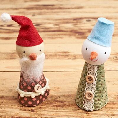 浪漫耶誕溫馨木頭手指偶 ◤apmLife生活雜貨◢